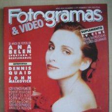 Cine: ANA BELEN. REVISTA FOTOGRAMAS FEBRERO 1991.. Lote 112252679
