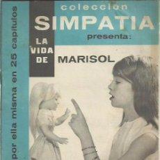 Cine: COLECCION SIMPATIA PRESENTA LA VIDA DE MARISOL ( MANDOÑINA ) 1962 LOTE. Lote 58565872