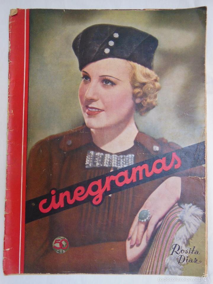 CINEGRAMAS. REVISTA SEMANAL. AÑO II, NÚM 38, 2 JUNIO 1935 (Cine - Revistas - Cinegramas)