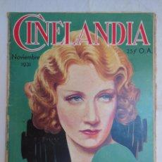 CINELANDIA. Publicada en Hollywood. Tomo V, Nº 11, Noviembre 1931