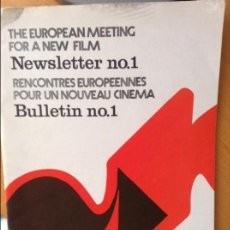 Cine: THE EUROPEAN MEETING FOR A NEW FILM NEWSLETTER NO.1. Lote 58651849