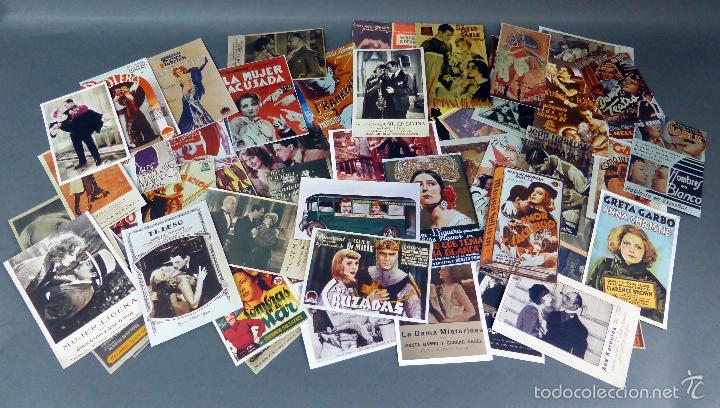 66 REPRODUCCIONES PROGRAMAS CINE AÑOS 30 - 40 - 50 HECHAS EN AÑOS 90 (Cine - Reproducciones de carteles, folletos...)