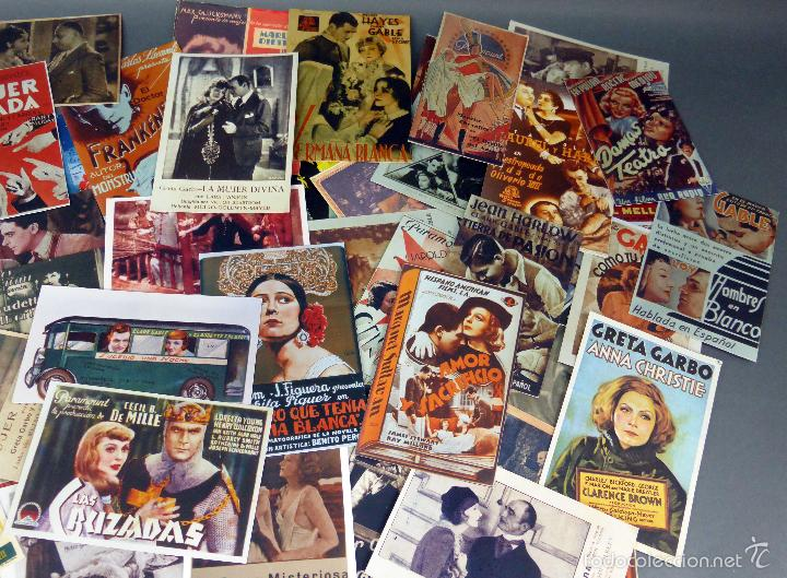 Cine: 66 reproducciones programas cine años 30 - 40 - 50 hechas en años 90 - Foto 3 - 58739441