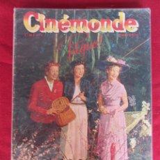 Cine: REVISTA DE CINE FRANCESA CINEMONDE Nº 867 3/1951. Lote 59445875