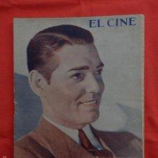 Cine: EL CINE, CLARK GABLE, NÚM. ESPECIAL, SEP. 1932. Lote 59918327