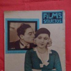 Cine: FILMS SELECTOS, BUSTER KEATON ANITA PAGE, Nº 83, MAYO DE 1932. Lote 59923611
