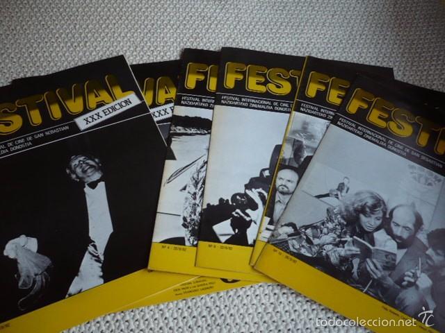 6 PROGRAMAS XXX EDICIÓN FESTIVAL INTERNACIONAL DE CINE S. SEBASTIAN AÑO 1982 (Cine - Revistas - Papeles de cine)