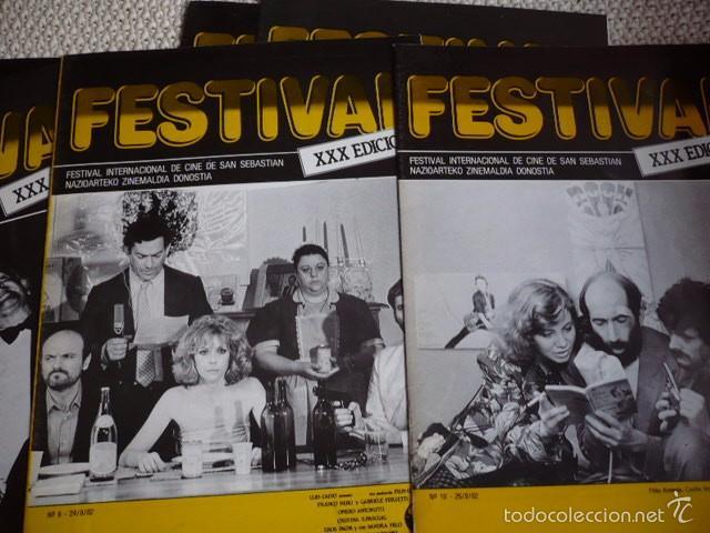 Cine: 6 PROGRAMAS XXX EDICIÓN FESTIVAL INTERNACIONAL DE CINE S. SEBASTIAN AÑO 1982 - Foto 2 - 60023587