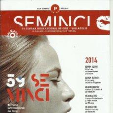 Cine: 59 SEMANA INTERNACIONAL DE CINE VALLADOLID PALMARES . Lote 133170025