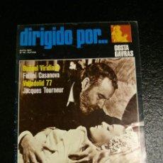 Cine: REVISTA DE CINE DIRIGIDO POR... Nº 44 MAYO 1977 - COSTA GAVRAS, JACQUES TOURNEUR, BUÑUEL, FELLINI.... Lote 60092847