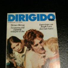 Cine: REVISTA DE CINE DIRIGIDO POR... Nº 55 - WERNER HERZOG, GUERRA CIVIL ESPAÑOLA. Lote 60093043