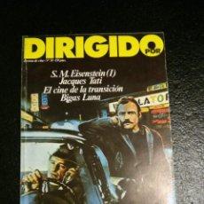 Cine: REVISTA DE CINE DIRIGIDO POR... Nº 58 - EISENSTEIN, JACQUES TATI, B.LUNA Y EL CINE DE LA TRANSICION. Lote 60093195