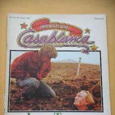 Cine: PAPELES DE CINE, CASABLANCA Nº 13, LA ERA TANNER. C8. Lote 60420223