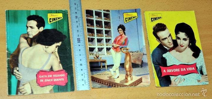 LOTE DE 3 ANTIGUAS REVISTAS PORTUGUESAS - CON ELIZABETH TAYLOR - AÑOS '60 (Cine - Revistas - Otros)