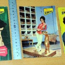 Cine: LOTE DE 3 ANTIGUAS REVISTAS PORTUGUESAS - CON ELIZABETH TAYLOR - AÑOS '60. Lote 60657187