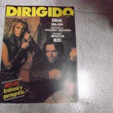 Cine: DIRIGIDO POR... Nº 92: DOSSIER EROTISMO Y PORNOGRAFIA. CONAN. KING-KONG. JULES ET JIM. REDS. MIRA. Lote 222331771