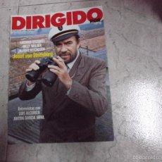 Cine: DIRIGIDO POR... Nº 90: LUCHINO VISCONTI. BILLY WILDER. ALFRED HITCHCOCK. JOSEF VON STERNBERG. ALCORI. Lote 171006450