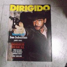 Cinema: DIRIGIDO POR... Nº 86: JAMES BOND. FRED ASTAIRE Y LAS GRANDES PRODUCTORAS. JUDY GARLAND. VENECIA 81.. Lote 162672658