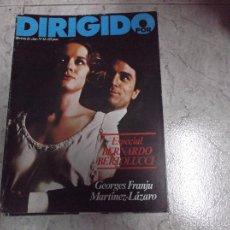 Cine: DIRIGIDO POR... Nº 54: ESPECIAL BERNARDO BERTOLUCCI. GEORGES FRANJU. MARTINEZ-LAZARO. MARTINEZ LAZAR. Lote 134007425