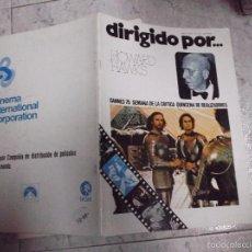 Cine: DIRIGIDO POR... Nº 24: HOWARD HAWKS. CANNES 75. SEMANA DE LA CRITICA. QUINCENA DE REALIZADORES. Lote 270131948