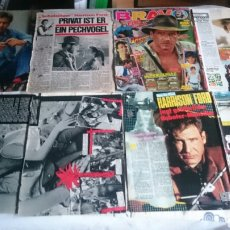 Cine: HARRISON FORD LOTE PAGINAS REPORTAJES CLIPPINGS MAGAZINE BLADE RUNNER INDIANA JONES. Lote 61515490