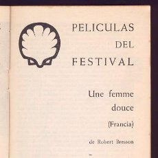 Cine: FILM IDEAL Nº 214-215 1969. SAN SEBASTIAN. GIJON. BRESSON. ERICE. ARANDA. GUERIN. STERNBERG.. Lote 61626272