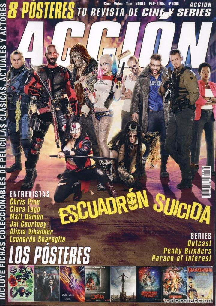 ACCION N. 1608 AGOSTO 2016 - EN PORTADA: ESCUADRON SUICIDA (NUEVA) (Cine - Revistas - Acción)
