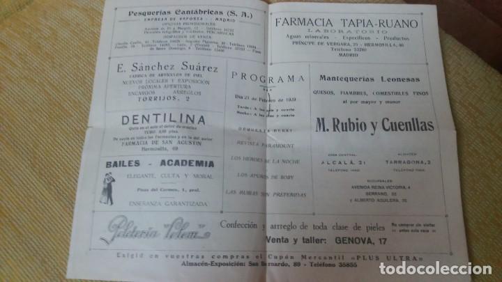 Cine: Raro revista programa de cinema goya con publicidad en el interior 23 de febrero de 1929miren fotos - Foto 4 - 61923576