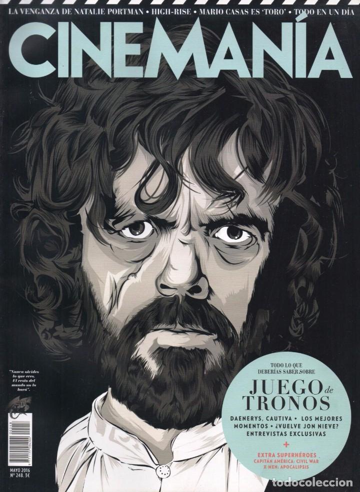 CINEMANIA N. 248 MAYO 2016 - EN PORTADA: JUEGO DE TRONOS (NUEVA) (Cine - Revistas - Cinemanía)