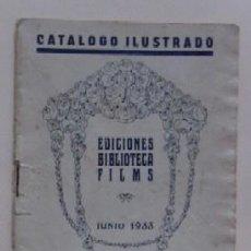 Cine: CATALOGO ILUSTRADO - EDICIONES BIBLIOTECA FILMS JUNIO 1933. Lote 62177276