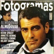Cine: REVISTA FOTOGRAMAS 1878 ABRIL 2000 GEORGE CLOONEY. Lote 62214348