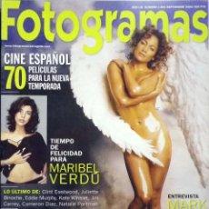 Cine: REVISTA FOTOGRAMAS 1883 SEPTIEMBRE 2000 JENNIFER LÓPEZ.. Lote 62215668