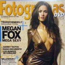 Cinema: REVISTA FOTOGRAMAS 1988 JUNIO 2009 MEGAN FOX.. Lote 62224528