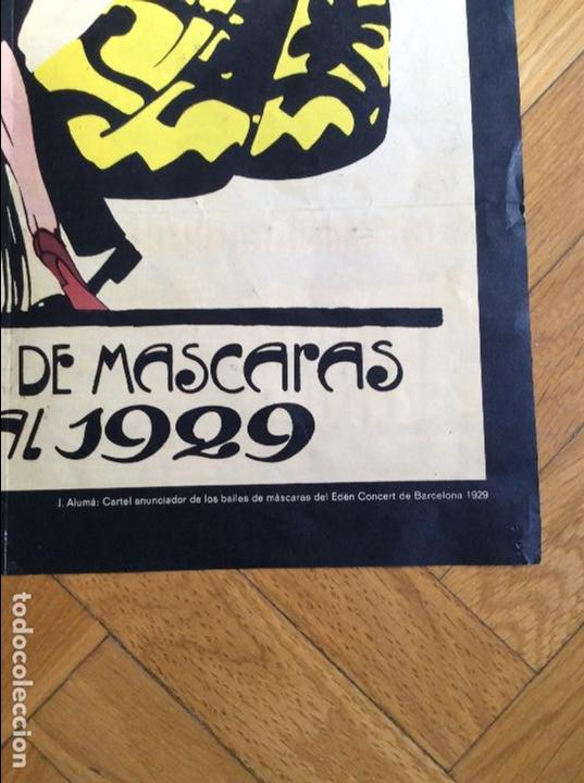 Cine: Cartel EDEM CONCERT. Grandes Bailes de Máscaras Carnaval Barcelona 1929 - Foto 2 - 62256908