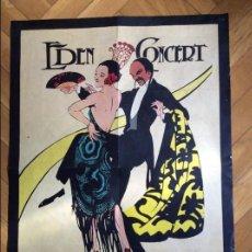 Cine: CARTEL EDEM CONCERT. GRANDES BAILES DE MÁSCARAS CARNAVAL BARCELONA 1929. Lote 62256908