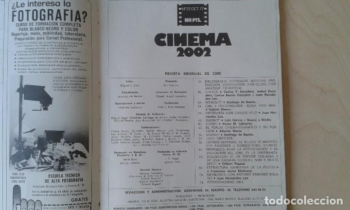 Cine: CINEMA 2002, nº 32 - Octubre 1977 - Cine y Psicoanálisis, Carlos Velo, Gijón 77, Mariám... - Foto 2 - 62364176