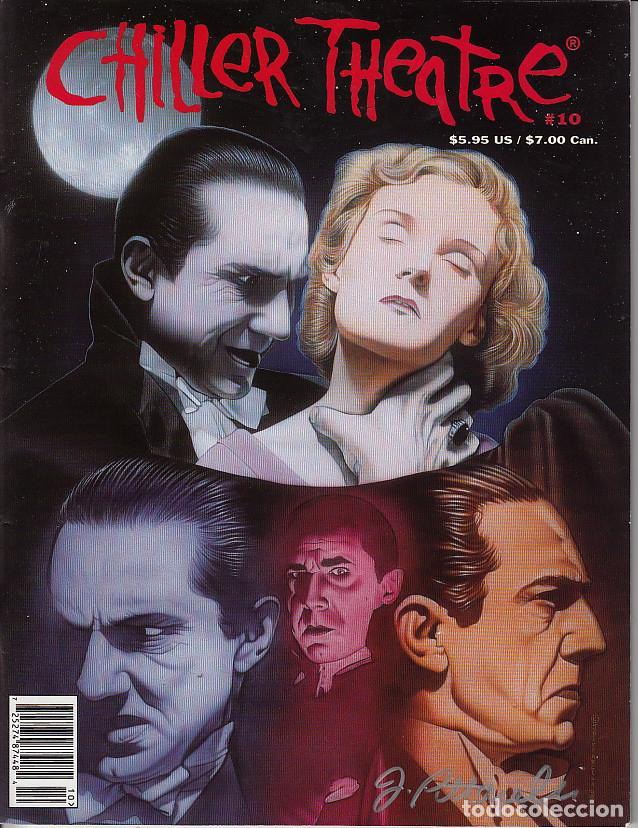 CHILLER THEATRE # 10 (CHILLER THEATHE,1999) - BELA LUGOSI - PORTADA FIRMADA A MANO JEFF PITTARELLI (Cine - Revistas - Otros)