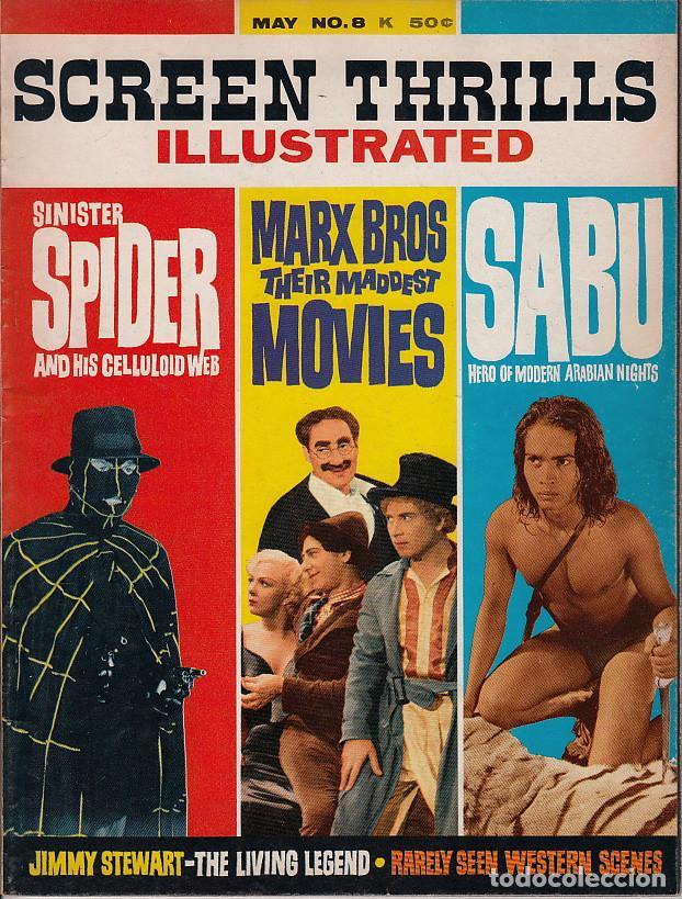 SCREEN THRILLS ILLUSTRATED #8 (VOL.2 #4) (WARREN PUBLISHING,1964) - SABU - SPIDER - HERMANOS MARX (Cine - Revistas - Otros)