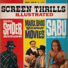 Cine: SCREEN THRILLS ILLUSTRATED #8 (VOL.2 #4) (WARREN PUBLISHING,1964) - SABU - SPIDER - HERMANOS MARX. Lote 63465944