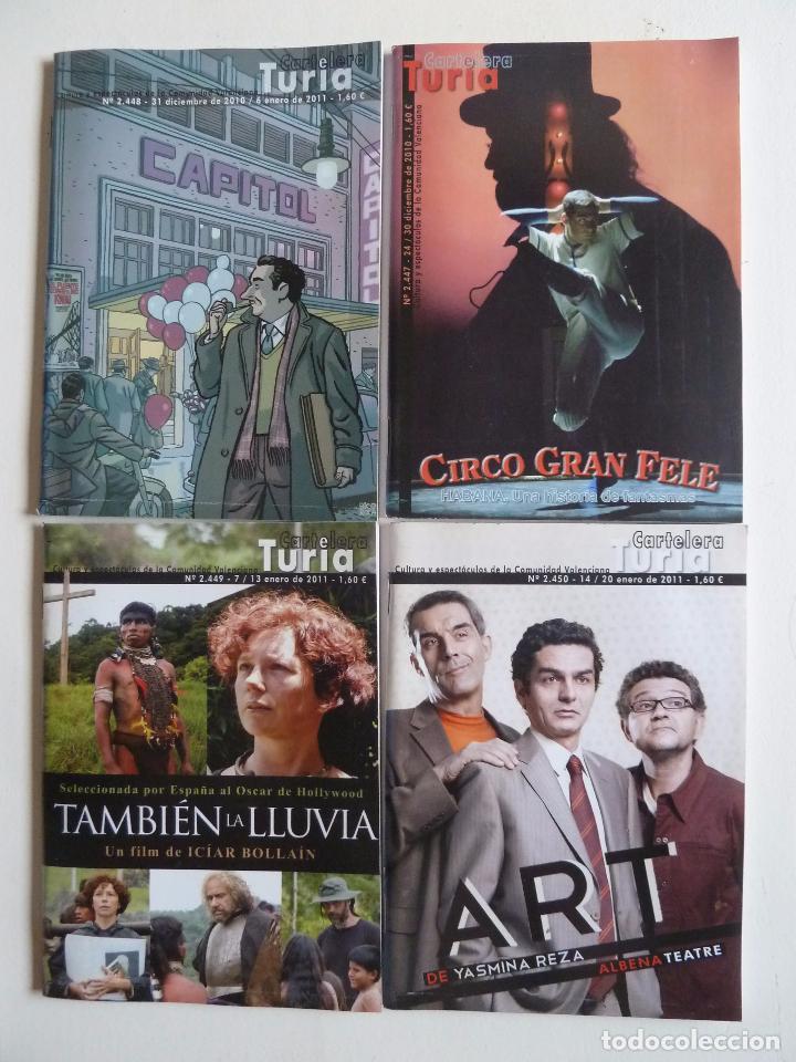 Cine: LOTE DE 246 NÚMEROS DE LA REVISTA CARTELERA TURIA ENTRE EL 2416 Y EL 2687. MAYO 2010 A AGOSTO 2015 - Foto 3 - 63589924
