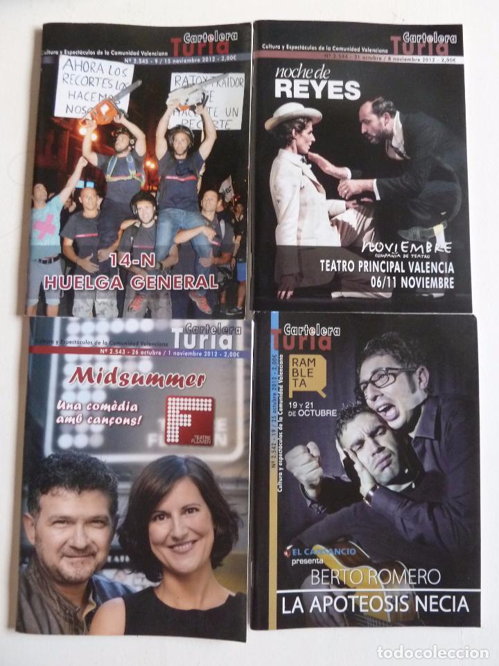 Cine: LOTE DE 246 NÚMEROS DE LA REVISTA CARTELERA TURIA ENTRE EL 2416 Y EL 2687. MAYO 2010 A AGOSTO 2015 - Foto 12 - 63589924