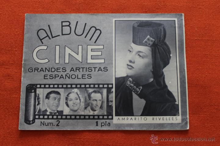 ALBUM CINE Nº2, GRANDES ARTISTAS ESPAÑOLES, AMPARITO RIVELLES (Cine - Revistas - Otros)