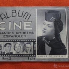 Cine: ALBUM CINE Nº2, GRANDES ARTISTAS ESPAÑOLES, AMPARITO RIVELLES. Lote 63625851