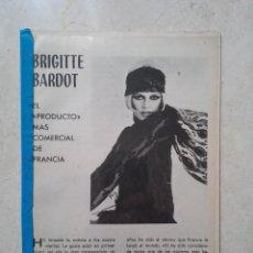 Cinema: REVISTA - BIOGRAFIA AÑO 1972 - BRIGITTE BARDOT - 20 PAG - LLENA DE FOTOS RARAS. Lote 63701719
