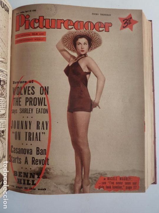 Cine: PICTUREGOER 1955. 35 REVISTAS EN UN TOMO. 26-02-1955 A 22-10-1956. EN INGLÉS. CINE. Muchas fotos - Foto 3 - 63805211