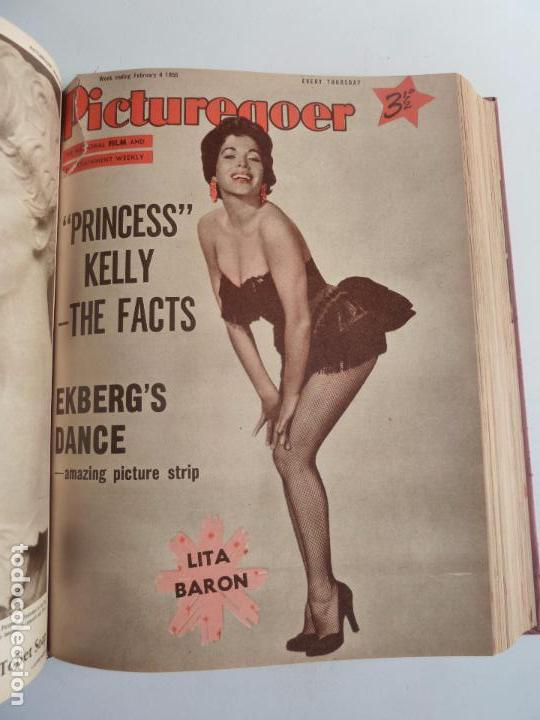 Cine: PICTUREGOER 1955. 35 REVISTAS EN UN TOMO. 26-02-1955 A 22-10-1956. EN INGLÉS. CINE. Muchas fotos - Foto 13 - 63805211