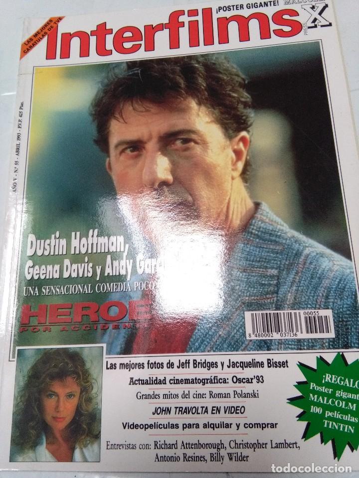 INTERFILMS. Nº 55. ABRIL 1993. DUSTIN HOFFMAN, JOHN TRAVOLTA. POLANSKI, SHARON STONE... (Cine - Revistas - Interfilms)