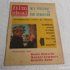 Cinema: FILM IDEAL Nº 123, JULIO-1963,ESCANDALOSO PATEO AL JURADO,SUMMERS, BLAKE EDWARDS, RODOLFO KUHN,. Lote 65030255