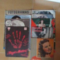 Cine: REVISTAS DE CINE ANTIGUAS DIFERENTES-LOTE DE 9. Lote 65249359