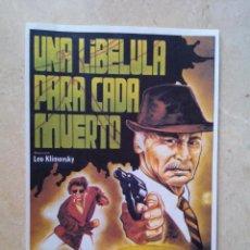 Cinema: REPRODUCCION 10*15 - UNA LIBELULA PARA CADA MUERTO - GIALLO - TERROR - PAUL NASCHY. Lote 65436668